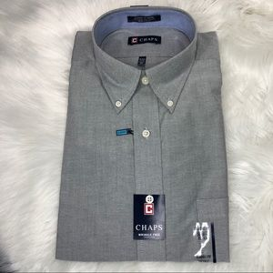 CHAPS Dress Shirt Wrinkle Free Oxford Classic Fit